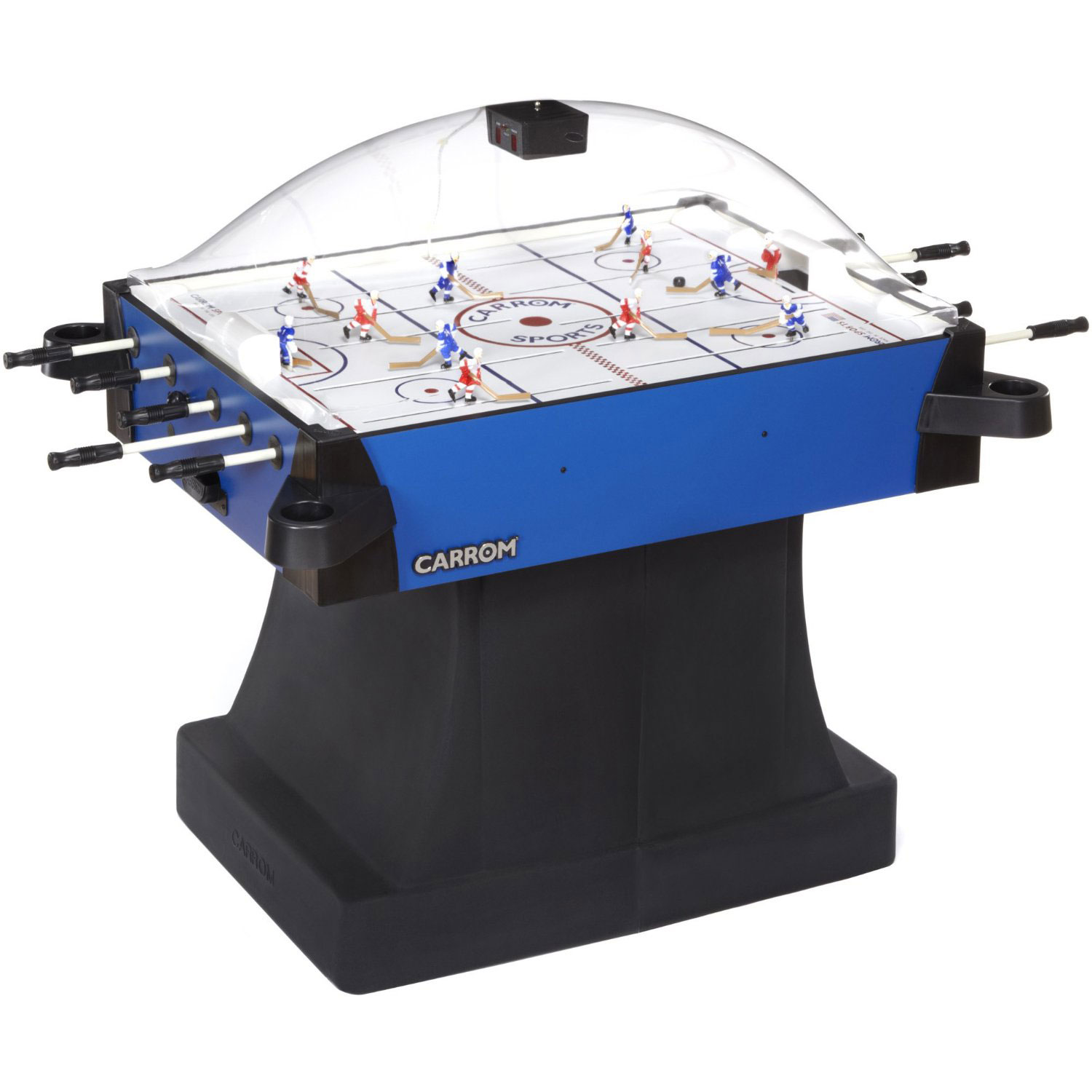 carrom signature stick rod hockey table w pedestal table
