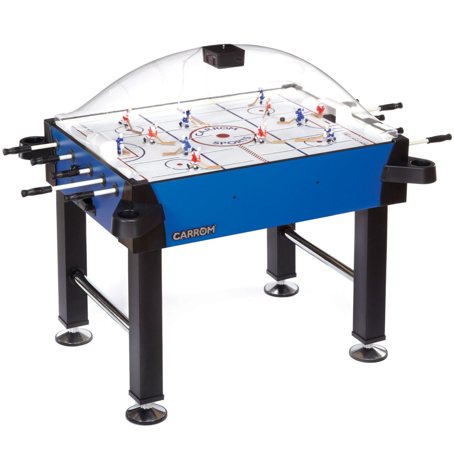 Carrom signature stick rod hockey table w legs table for Table hockey