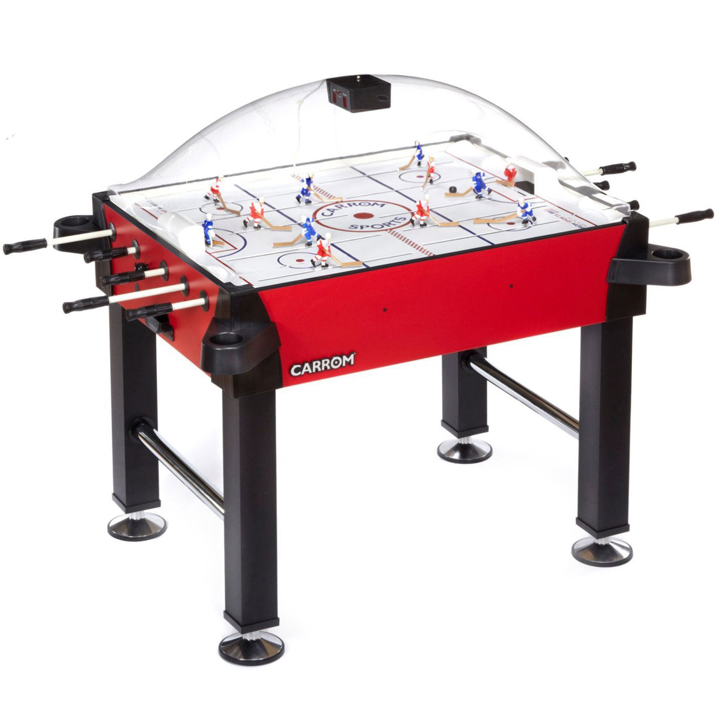 ... Carrom Signature Stick Rod Hockey Table Game With Legs Red #425.00