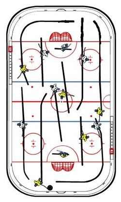 ... Overhead View Of The Stiga Playoff Table Top Rod Hockey Game 71 1144 09