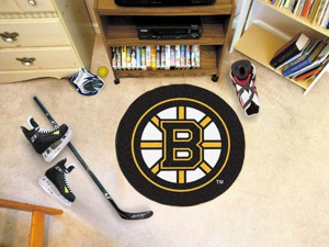 Boston Bruins Team Puck Mat Rug 10495