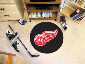 Detroit Red Wings Team Puck Mat Rug 10271