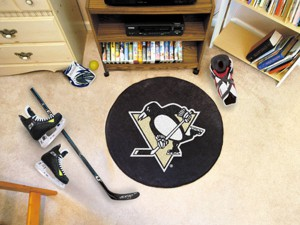 Pittsburgh Penguins Team Puck Mat Rug 10273